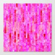 Pink Geometric Pattern Canvas Print