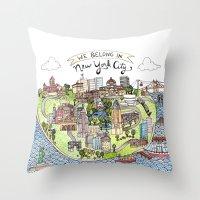 New York City Love Throw Pillow