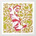 Haka Dance Art Print