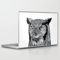 owl Laptop & iPad Skins featuring Owl by Puddingshades