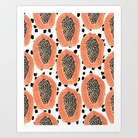 Bold Papayas Art Print