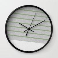 Concrete & Stripes II Wall Clock