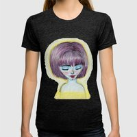 Cady Womens Fitted Tee Tri-Black SMALL