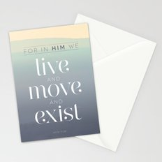 live / move / exist Stationery Cards