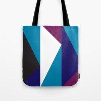 Blue Purple Triangle Pat… Tote Bag
