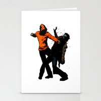 Zombie Fist Fight! Stationery Cards
