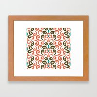 Moroccan Damask Framed Art Print