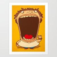Big Mouth Art Print
