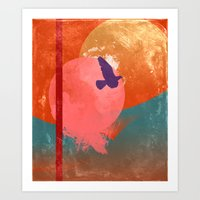 Solitary Flight Art Print