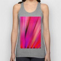 Re-Created  Feather iv by Robert S. Lee Unisex Tank Top