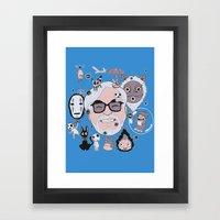 Miyazaki Tribute Framed Art Print