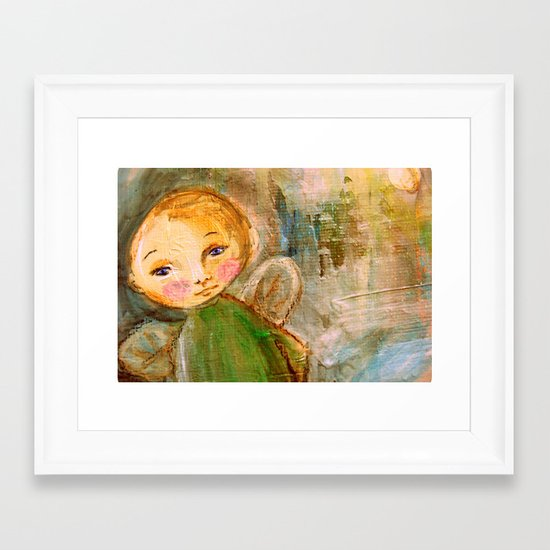 Cherub Framed Art Print