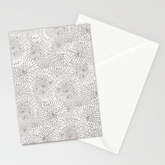 Flowers in lines Stationery Cards