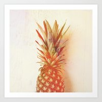 Orange Pineapple Art Print