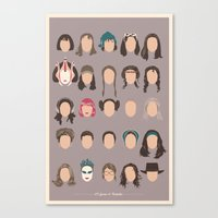 25 FACES OF NATALIE Canvas Print