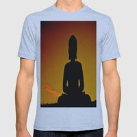 In Buddha's Shadow Mens Fitted Tee Athletic Blue SMALL
