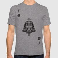 Darth Vader Card Mens Fitted Tee Tri-Grey SMALL