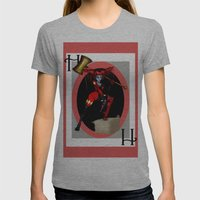 HARLEY QUINN Womens Fitted Tee Athletic Grey SMALL