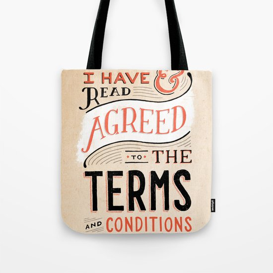 Terms and Conditions Tote Bag
