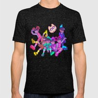Osomatsu-san :: Electrical Parade (ver2) Mens Fitted Tee Tri-Black SMALL
