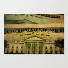 money in God we trust Canvas Print