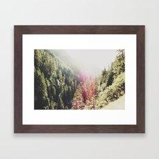 Mountain Flare Framed Art Print