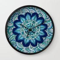 Ocean Flower Wall Clock