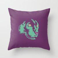 Panther Alt Throw Pillow