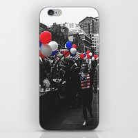 Red, Blue and White iPhone & iPod Skin