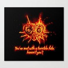 Majora's Mask Fire Canvas Print