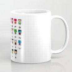 Superhero Alphabet Mug