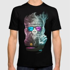 Smoky Mens Fitted Tee Black SMALL