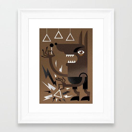 """""""Wolf"""" Monster Rock Framed Art Print"""