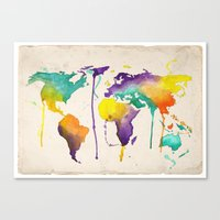 World Splash Canvas Print