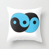 Reflections of Yin and Yang Throw Pillow