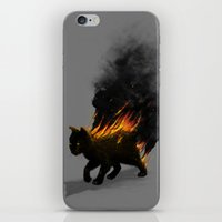 This Cat Is On Fire! iPhone & iPod Skin