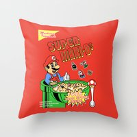 Super Mari-Os Throw Pillow