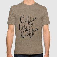 COFFEE COFFEE COFFEE Mens Fitted Tee Tri-Coffee SMALL