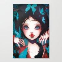 Nachtfalter Canvas Print