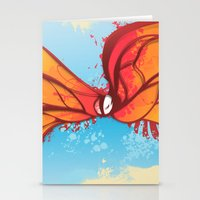 Digital Butterfly Stationery Cards