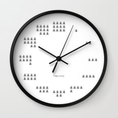 Time Flies Wall Clock