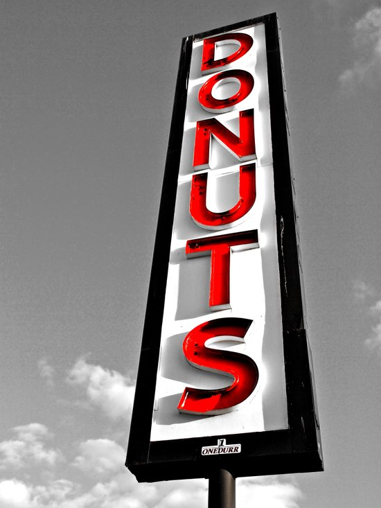 Donuts above all Art Print