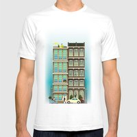 Time to Get up & Go to Work Mens Fitted Tee White SMALL