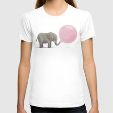 Jumbo Bubble Womens Fitted Tee White SMALL