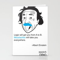 MOUSTACHES WILL TAKE YOU… Stationery Cards