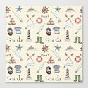 Nautical Pattern Canvas Print