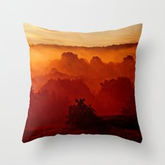 Mystical Foggy Morning Throw Pillow