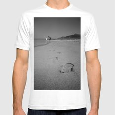 Dad SMALL Mens Fitted Tee White