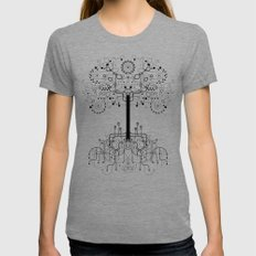 The White Tree Womens Fitted Tee Tri-Grey SMALL