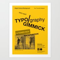 Imitation Flattery - Lecture Poster Art Print